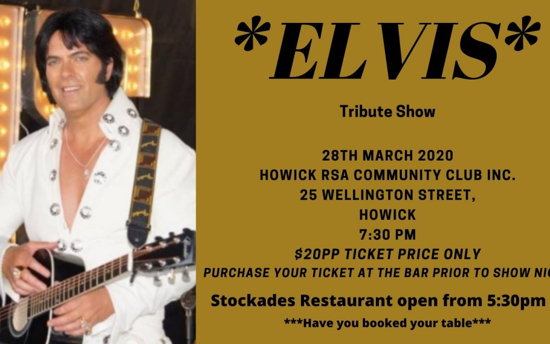 Elvis Show – CANCELLED